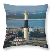 The Absecon Lighthouse In Atlantic City New Jersey Throw Pillow
