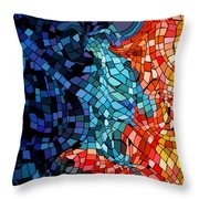The Abstract Kiss Throw Pillow