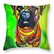 The Abstract Mastiff Throw Pillow
