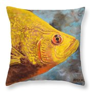 The Abyss Stares Back Throw Pillow
