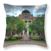 The Academic Building Throw Pillow