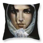 The Face In The Mirror Throw Pillow