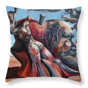 The Adam-eve Delusion Throw Pillow