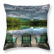 The Adirondack Mountains - Forever Wild Throw Pillow