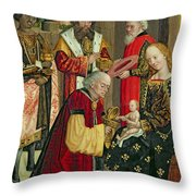 The Adoration Of The Magi Throw Pillow