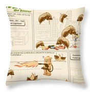 The Adventures Of Dr Ogel Throw Pillow