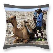 The Afar People  Throw Pillow