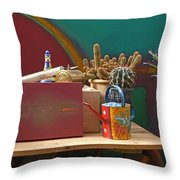 The African Watering Can Throw Pillow