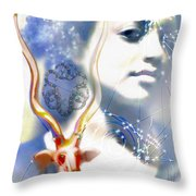 The African Witchweaver Throw Pillow