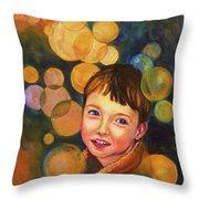 The Afterglow Throw Pillow by Angelique Bowman