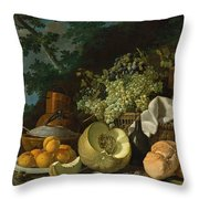 The Afternoon Meal Throw Pillow