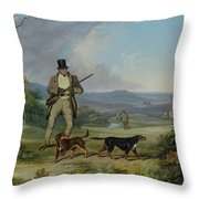 The Afternoon Shoot Throw Pillow by Philip Reinagle