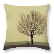 The Afternoon Spent Throw Pillow