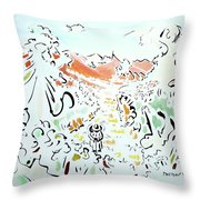 The Afternoon Walk Throw Pillow