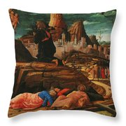 The Agony In The Garden 1455 Throw Pillow