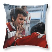 The Agony Of Loss Throw Pillow by Kim Lockman