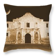 The Alamo Greeting Card Throw Pillow