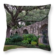 The Alamo Oak Throw Pillow
