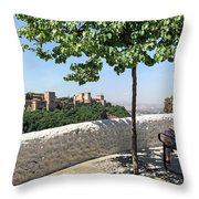 The Alhambra From Sacromonte Throw Pillow