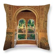 The Alhambra Torre De La Cautiva Throw Pillow