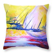 The Aliens Abstract Throw Pillow