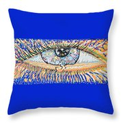 The All Seeing All Colourfull.... Throw Pillow