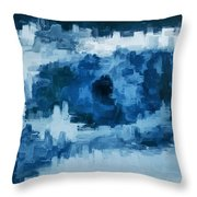 The All Seeing Blue Eye Throw Pillow