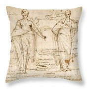 The Allegorical Figures Of Reason And Wisdom  Throw Pillow