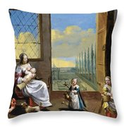 The Allegory Of Childhood Throw Pillow