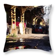 The Alley I Throw Pillow
