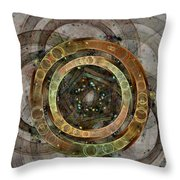 The Almagest - Homage To Ptolemy - Fractal Art Throw Pillow