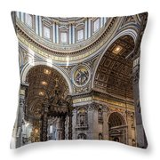 The Altar And Dome In St Peter's Basilica Throw Pillow