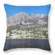 The Amalfi Coast - Panorama Throw Pillow