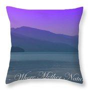 The Amazing Priest Lake Throw Pillow