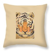 The Amber Stare Throw Pillow