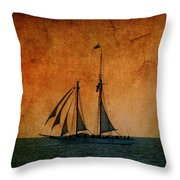 The America In Key West Throw Pillow