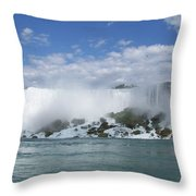 The American Falls At Niagra Throw Pillow
