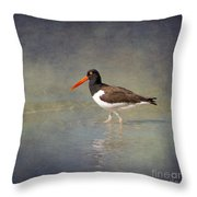 The American Pied Oystercatcher By Darrell Hutto Throw Pillow