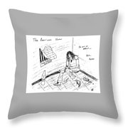 The American Voter Throw Pillow