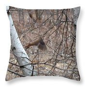 The American Woodcock In Take-off Flight Throw Pillow