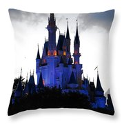 The Amethyst Palace Throw Pillow