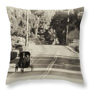 The Amish Buggy Throw Pillow by Bill Cannon
