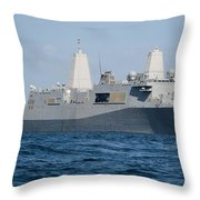 The Amphibious Transport Dock Ship Uss Throw Pillow
