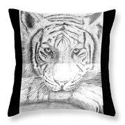 The Amur Tiger Throw Pillow
