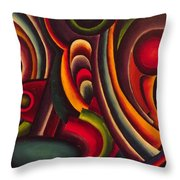 The Amusement Park Throw Pillow