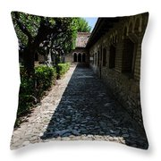 The Ancient Cloister 2  Throw Pillow