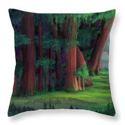 The Ancient Forest Throw Pillow