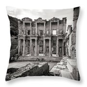 The Ancient Library Throw Pillow