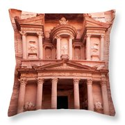 The Ancient Treasury Petra Throw Pillow