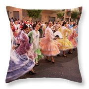 The Andalusian Fair, A Party In The Streets Throw Pillow